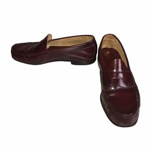 Bass Weejuns Burgundy Logan Penny Loafers Sz 12D